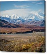 Mt Denali View From Eielson Visitor Center Canvas Print
