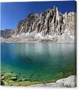 Mt Hitchcock Over Lower Hitchcock Lake 2 - Sierra Canvas Print