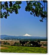 Mt Hood From Rocky Butte Canvas Print