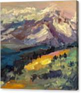 Mt Hood View From Chinook Landing Canvas Print