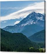 Mt Hood With Lenticular Cloud 2 Canvas Print