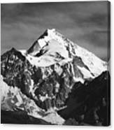 Mt Huayna Potosi In Monochrome Canvas Print