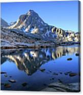 Mt Huxley Over Saphire Lake Morning - John Muir Trail Canvas Print