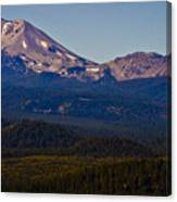 Mt Lassen And Chaos Crags Canvas Print
