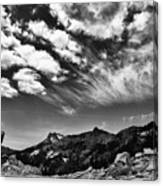 Mt. Lassen B W Canvas Print
