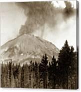 Mt. Lassen In Eruption Oct. 6, 1915 Canvas Print