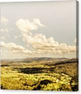 Mt Mee Vintage Landscape Canvas Print