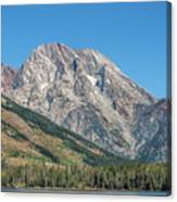 Mt Moran At The Grand Tetons Canvas Print