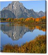 Mt. Moran Fall Reflection  Canvas Print