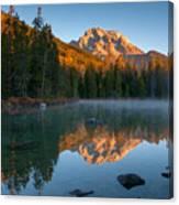 Mt. Moran From String Lake Canvas Print