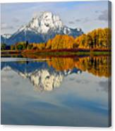 Mt Moran From The Ox Bow Canvas Print