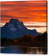Mt. Moran Sunset Canvas Print