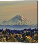 Mt Rainer Fall Color Rising Canvas Print