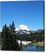 Mt. Rainier And Tipsoo Lake Canvas Print