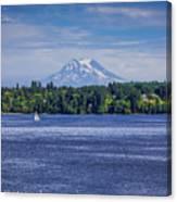 Mt Rainier Blues Canvas Print