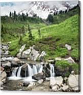 Mt Rainier Paradise Portrait Canvas Print