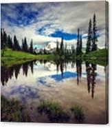 Mt Rainier Reflections Canvas Print