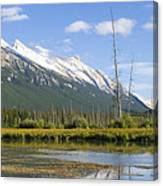 Mt Rundle Over Vermillion Lakes Canvas Print
