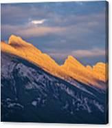 Mt Rundle Sunset Banff Canvas Print