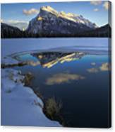 Mt. Rundle Winter Reflection Canvas Print