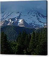 Mt Shasta Under Clouds - Panorama Canvas Print