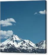 Mt Shasta With Heart-shaped Cloud Canvas Print