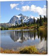 Mt Shuskan In Fall Canvas Print