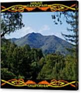 Mt Tamalpais Framed 1 Canvas Print