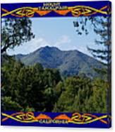 Mt Tamalpais Framed 2 Canvas Print
