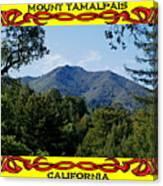 Mt Tamalpais Framed 4 Canvas Print