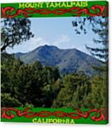 Mt Tamalpais Framed 5 Canvas Print