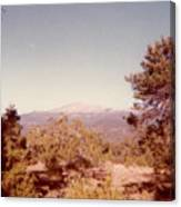 Mt Taylor  Canvas Print