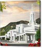 Mt. Timpanogos Temple #1 Canvas Print