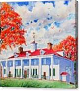 Mt. Vernon East Front In Fall Canvas Print