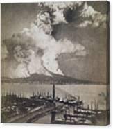 Mt. Vesuvius Erupting Canvas Print