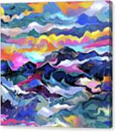 Mts. In The Sea Canvas Print