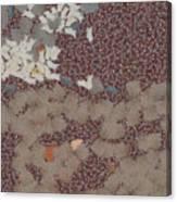 Muddy Footprints Over A Carpet Canvas Print
