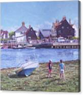 Mudeford Quay Christchurch From Hengistbury Head Canvas Print