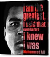 Muhammad Ali - Cassius Clay Portrait 2 - By Diana Van Canvas Print