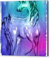Multi Coloured Unicorn Canvas Print