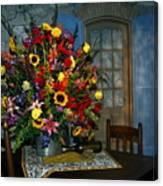 Multicolor Floral Arrangement Canvas Print