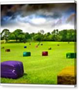 Multicolored Bales Fantasy Canvas Print