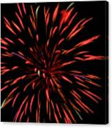 Multicolored Fireworks 2 Canvas Print