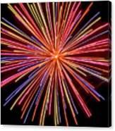 Multicolored Fireworks Canvas Print