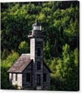 Munising Grand Island Lighthouse Upper Peninsula Michigan Vertical 02 Canvas Print