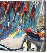 Mural Del Mar Race Track Canvas Print