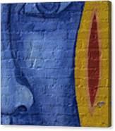 Mural Face Canvas Print