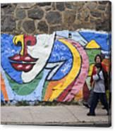 Mural In Valparaiso Canvas Print