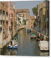 Murano Canal 4329 Canvas Print