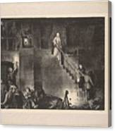 Murder Of Edith Cavell, First State By George Bellows 1882-1925 Canvas Print